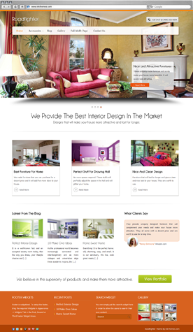10 mẫu giao diện wordpress đẹp cho thiết kế nội thất