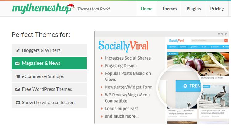 MyThemeShop giảm giá theme & plugin wordpress chỉ còn 9$