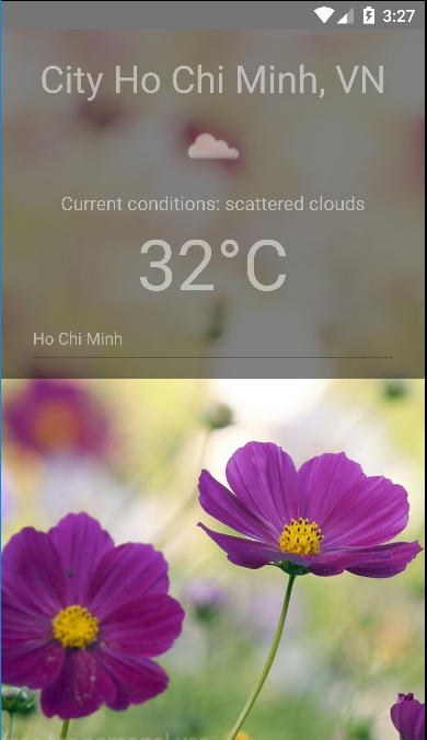 Weather app with react-native