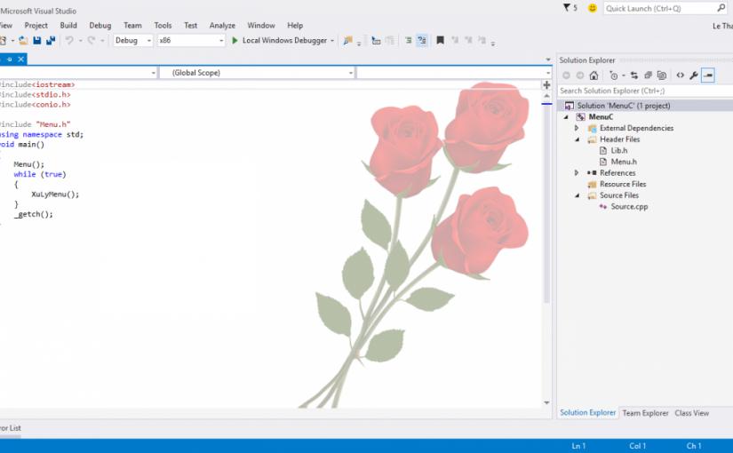 Hướng dẫn thay đổi background Visual Studio