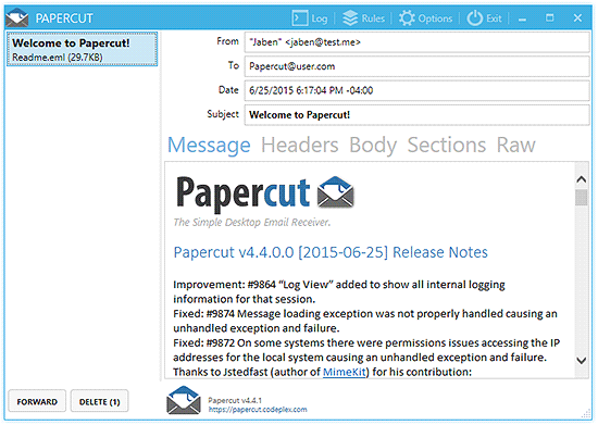 [.NET] Sử dụng Papercut-SMTP để test email trong khi develop